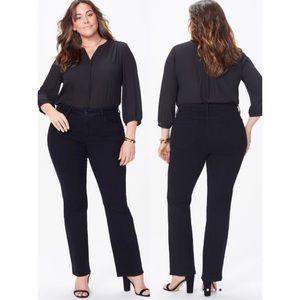 NYDJ Black Jeans 20W Plus Sz Lift Tuck Technology